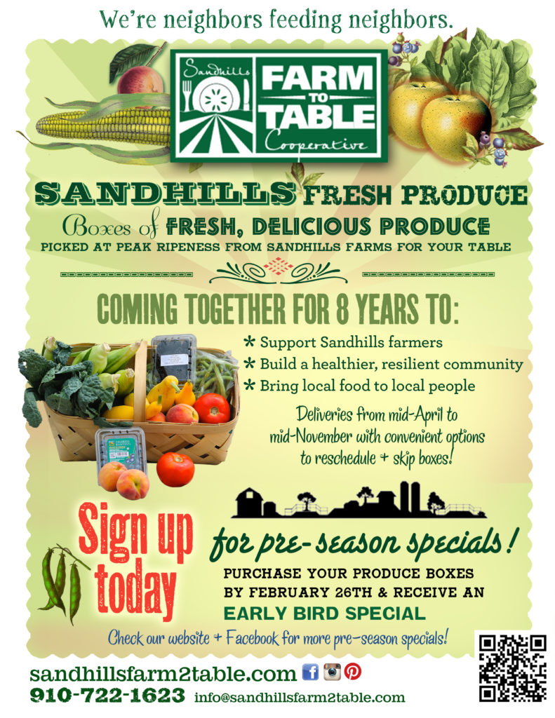 Join Sandhills Farm To Table North Carolina Cooperative Extension