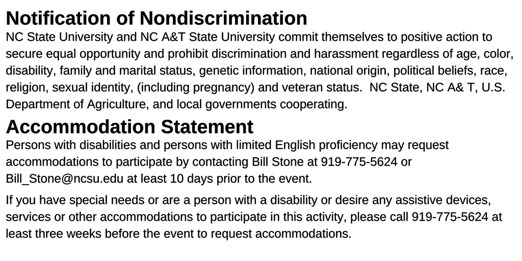 Lee County 4-H Discrimination Policy text
