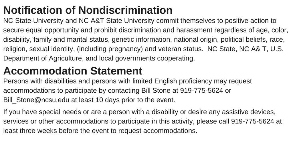 nondiscrimination and accommodation statements