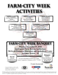 Farm City Week flyer