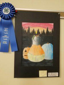 Photo of Middle School Art winner