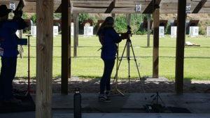 Brenna Steger shooting on the range