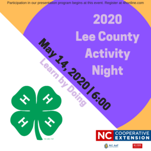 LEe County Activity night may 14, 2020