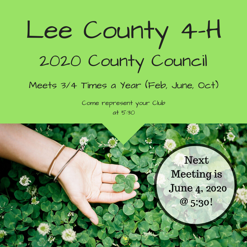 next county council meeting date is june 4