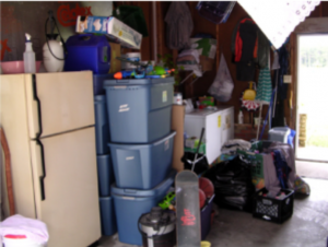 Cluttered storage area