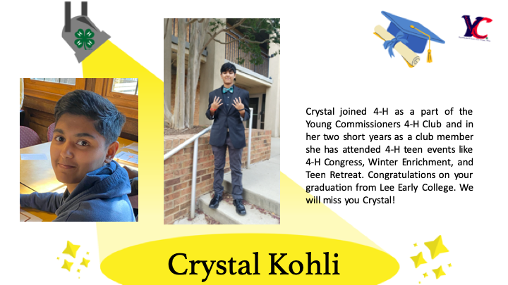Crystal graduation photo