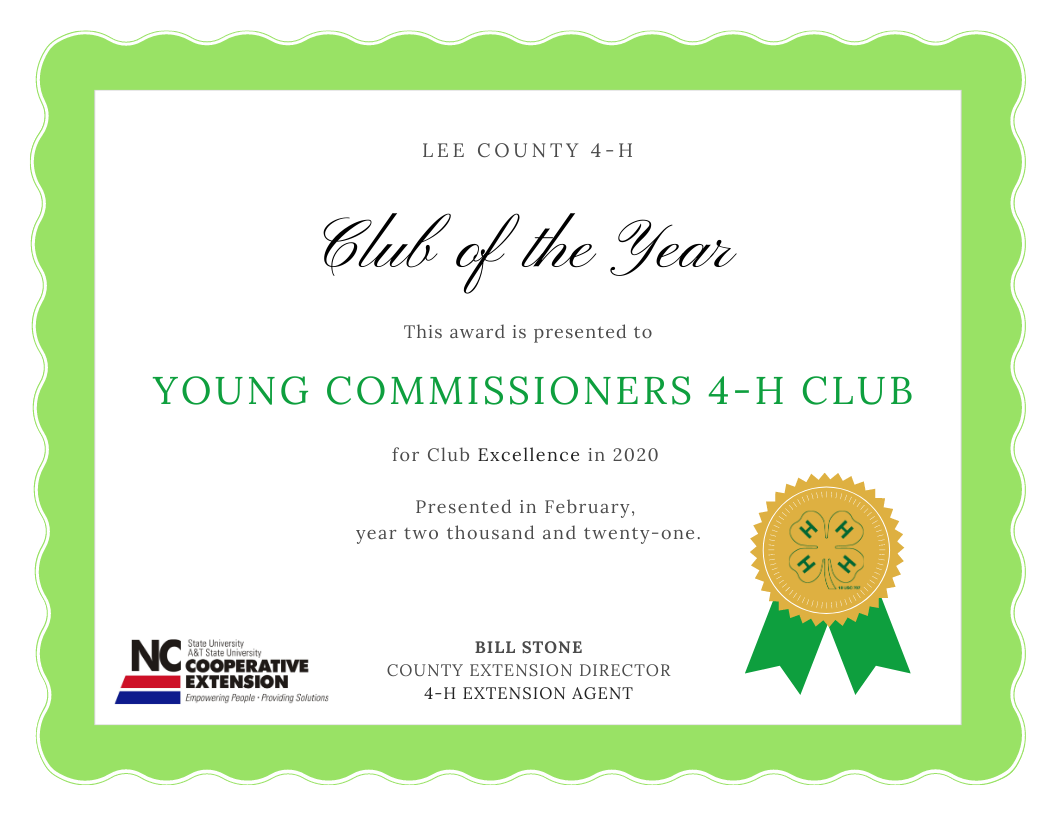 Young Commissioners win club of the year